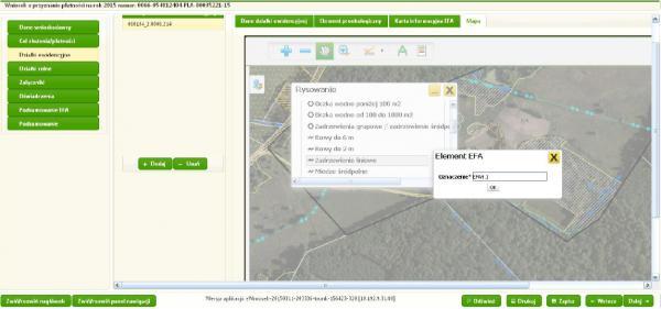Erfassung von GIS-Objekten mit Sachdaten im ARiMR-Portal