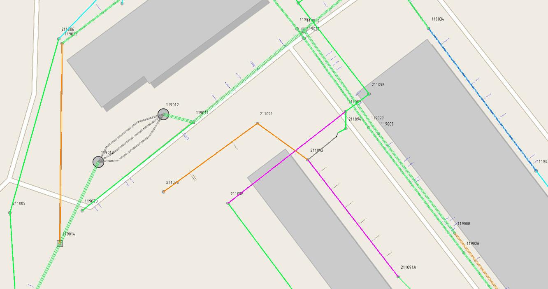 LIDS Zustandsbewertung Kanal - Karte eingefärbt nach Zustand